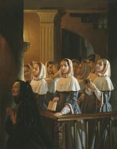 """Зацепін М. К. """"Монастирки на кліросі"""", 1852 р."""